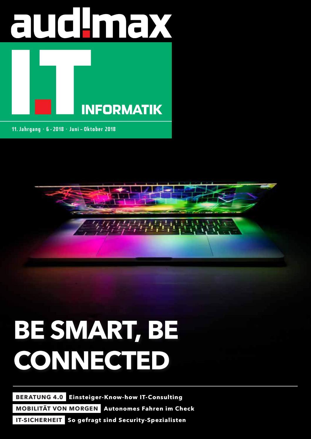 audimax I.T 6/2018 - Karrieremagazin für ITler by audimax MEDIEN - issuu