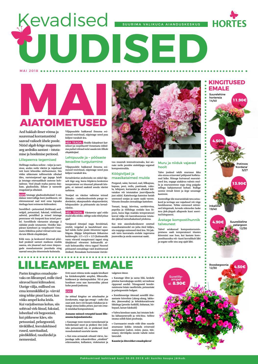 7d0969f9ddc Emadepäev ja kaunis maikuu - Hortese ajaleht by Aianduskeskus Hortes - issuu
