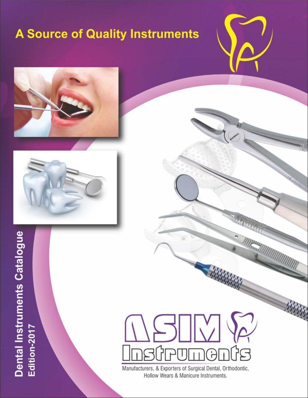 Asim instruments dental catalogue pdf 2017 by asiminst - issuu