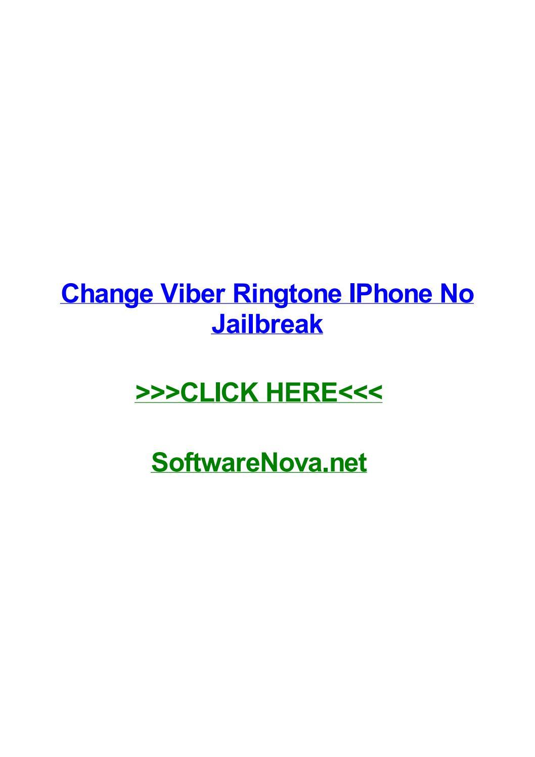 Change viber ringtone iphone no jailbreak by lauralehv - Issuu