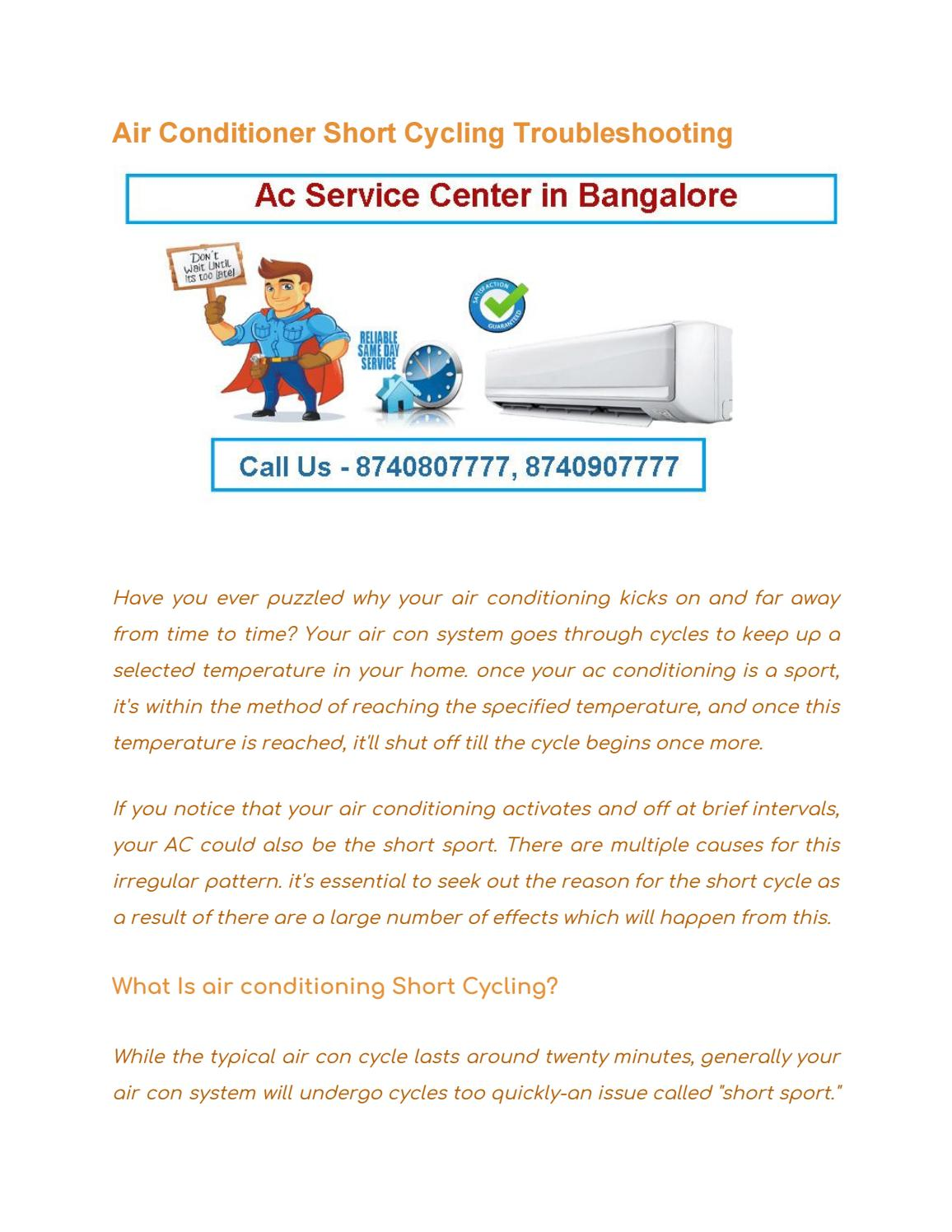 Air Conditioner Short Cycling Troubleshooting by indiarepairs - issuu