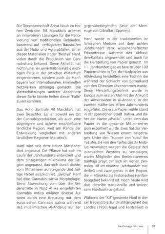 Page 39 of Hanf im marokkanischen hohen Zentralen RIF