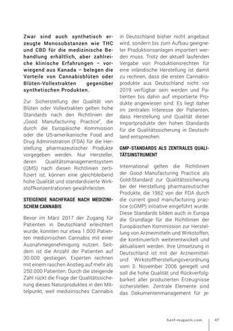 Page 47 of Qualitätssicherung bei medizinischem Cannabis