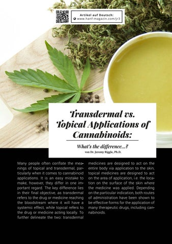 Page 75 of Transdermal vs. Topical Application of Cannabinoids