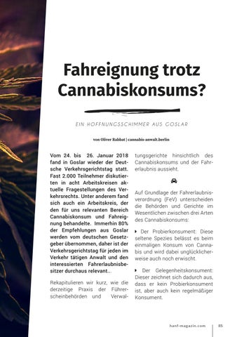 Page 85 of Fahreignung trotz Cannabiskonsums?