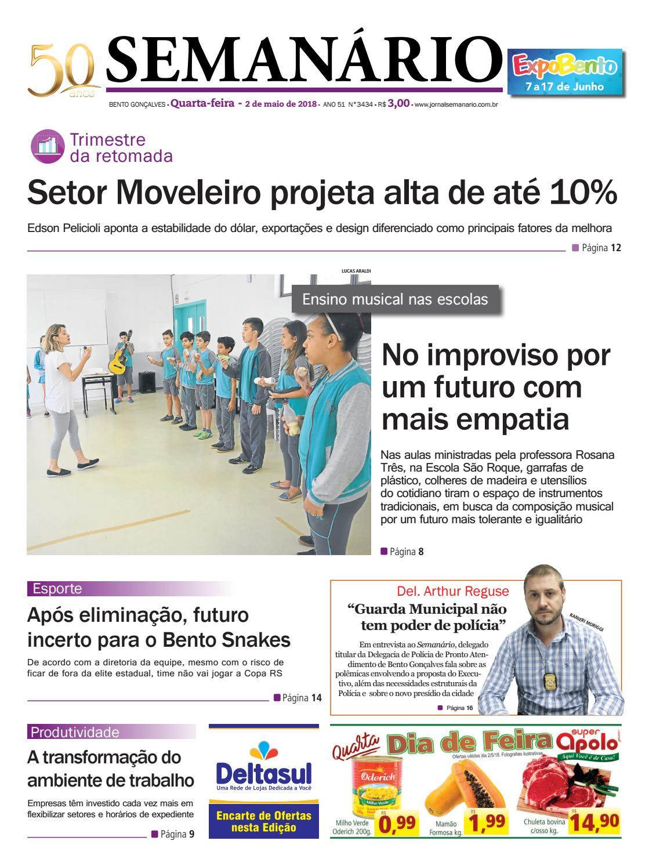 Jornal Semanário – 2 de maio de 2018 – Ano 51 – Nº 3430 by Jornal Semanário  - Bento Gonçalves - RS - issuu b6f2f5c9d88b5