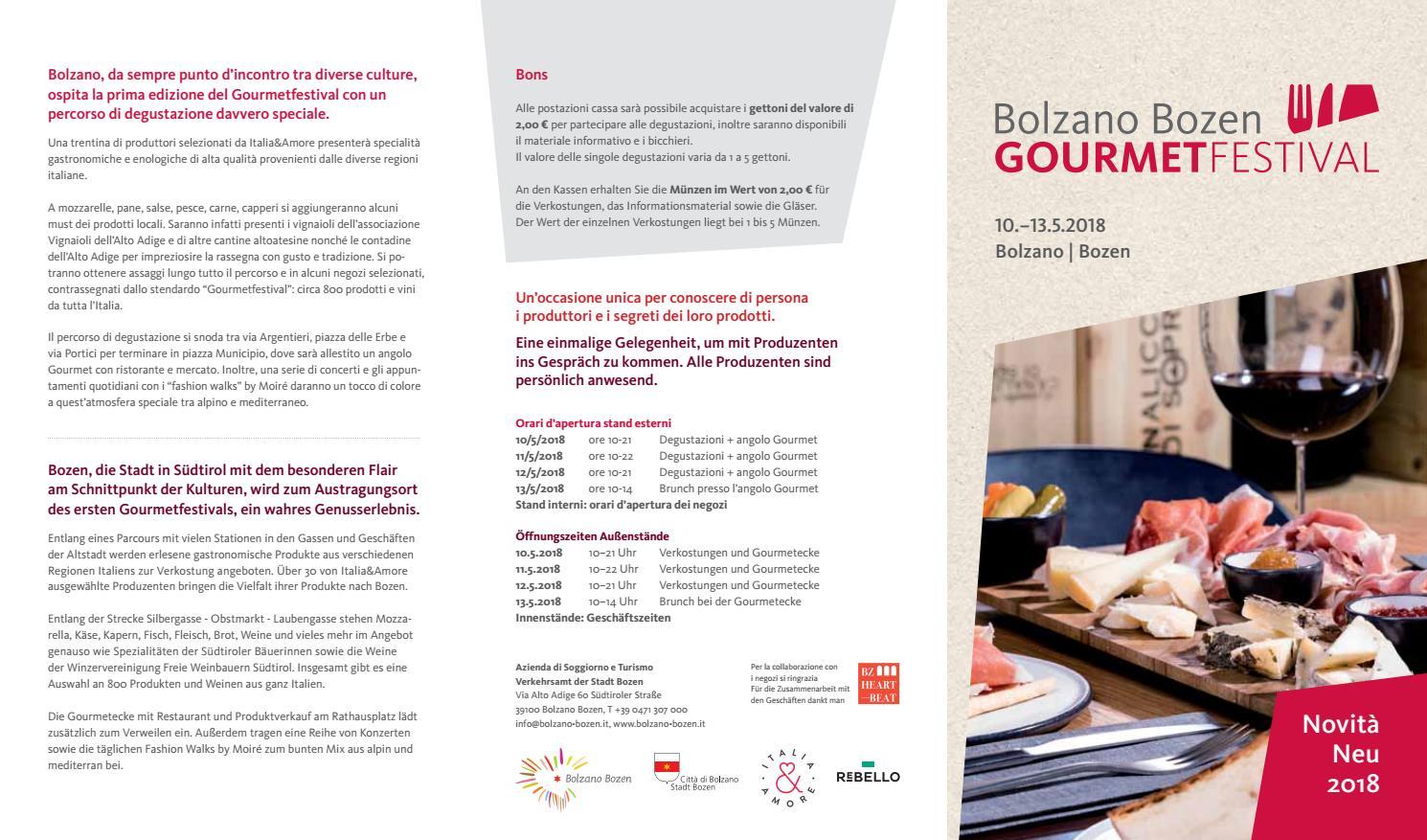 Gourmetfestival 2018 by Bolzano Bozen - issuu