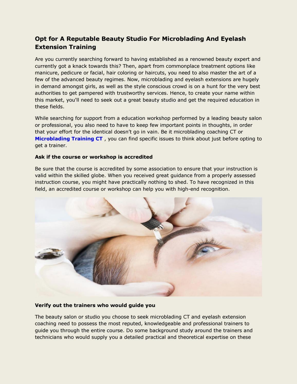Eyelash extensions training ct by Microblading Training CT ...