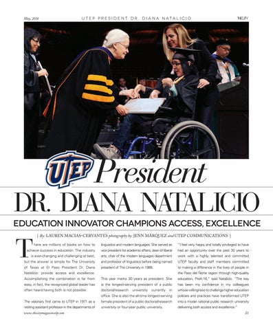 Page 25 of President Dr. Diana Natalicio