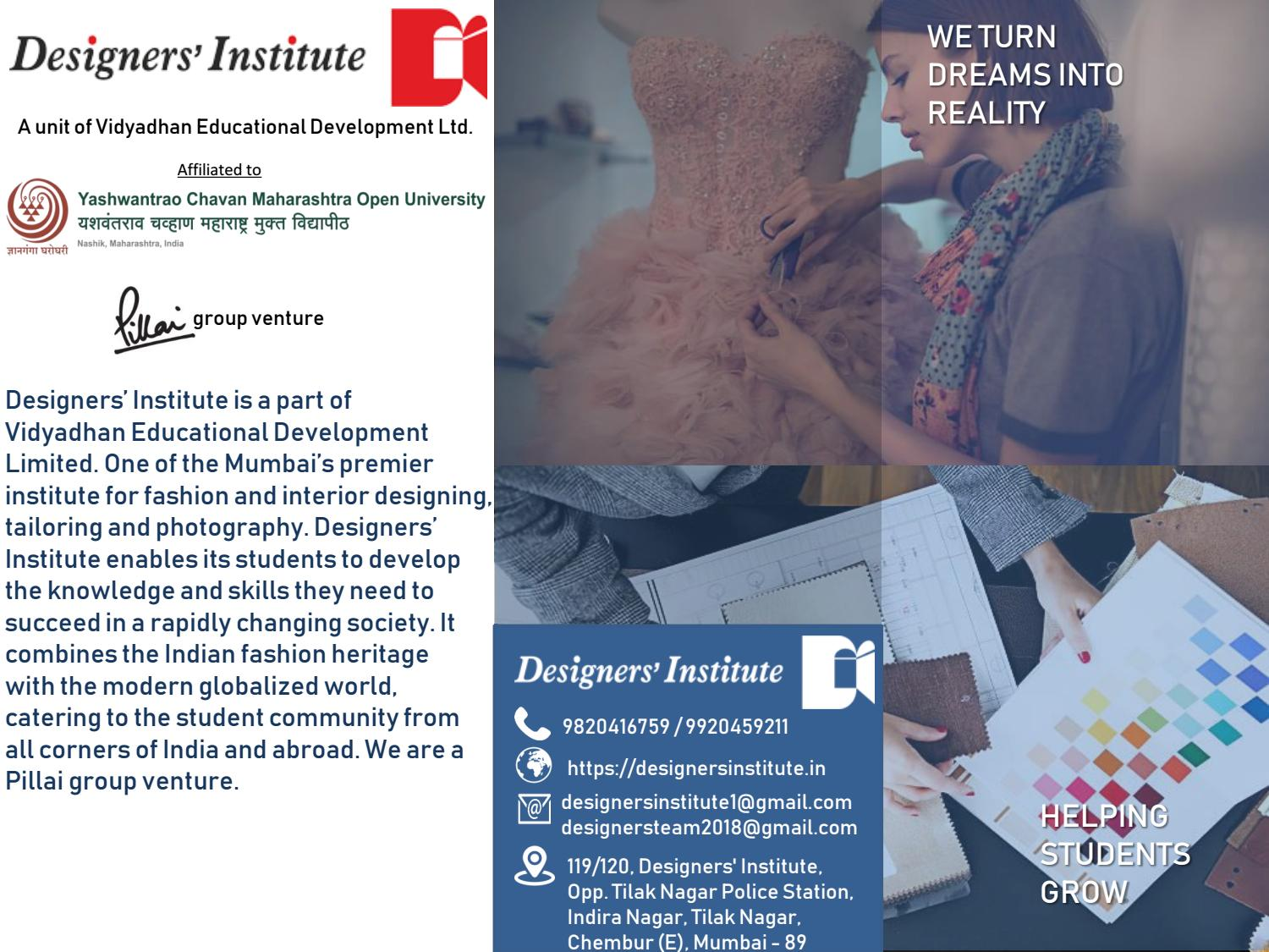 Designers Institute Brochure By Nilima Thakur Khare Issuu