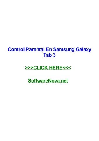 Control parental en samsung galaxy tab 3 by birhanieeoims