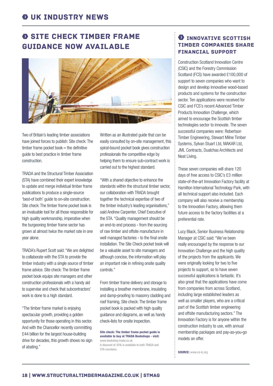 7dcc691e2d1 Structural Timber Magazine - Spring 2018 by Radar Communications - issuu
