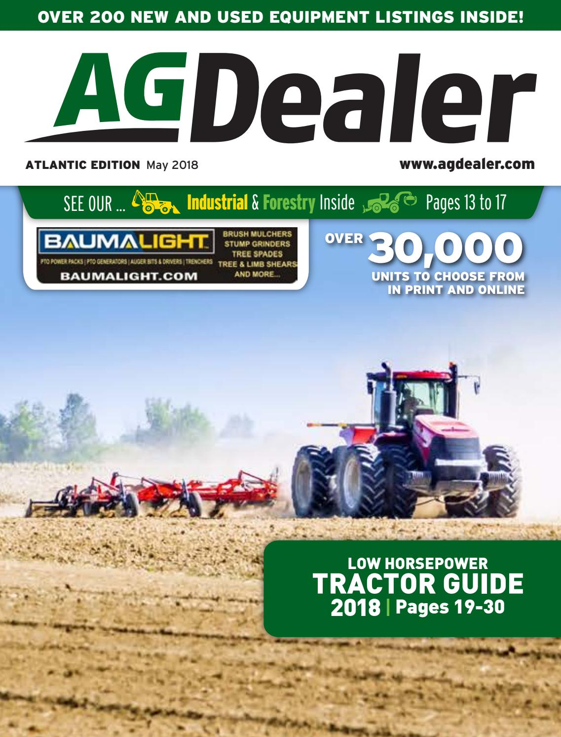 AGDealer Atlantic Edition, May 7, 2018 by Farm Business Communications -  issuu