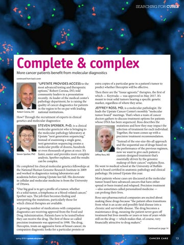 Page 13 of Complete & Complex -- More cancer patients benefit from molecular diagnostics