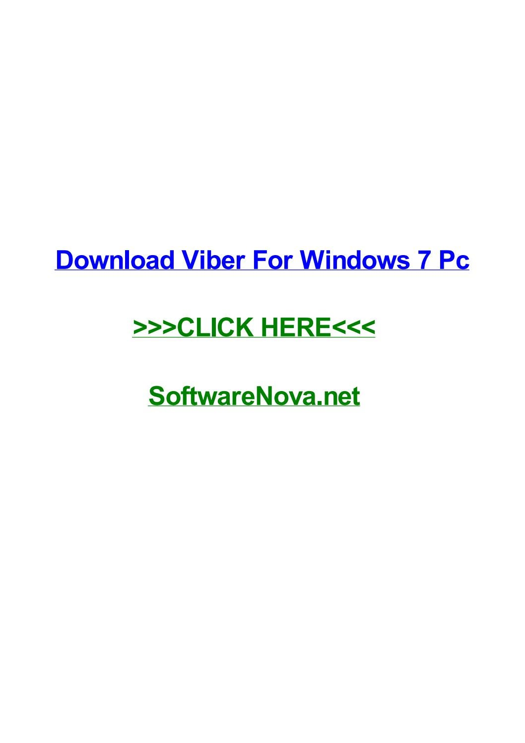Download viber for windows 7 pc by angelnwjp - issuu