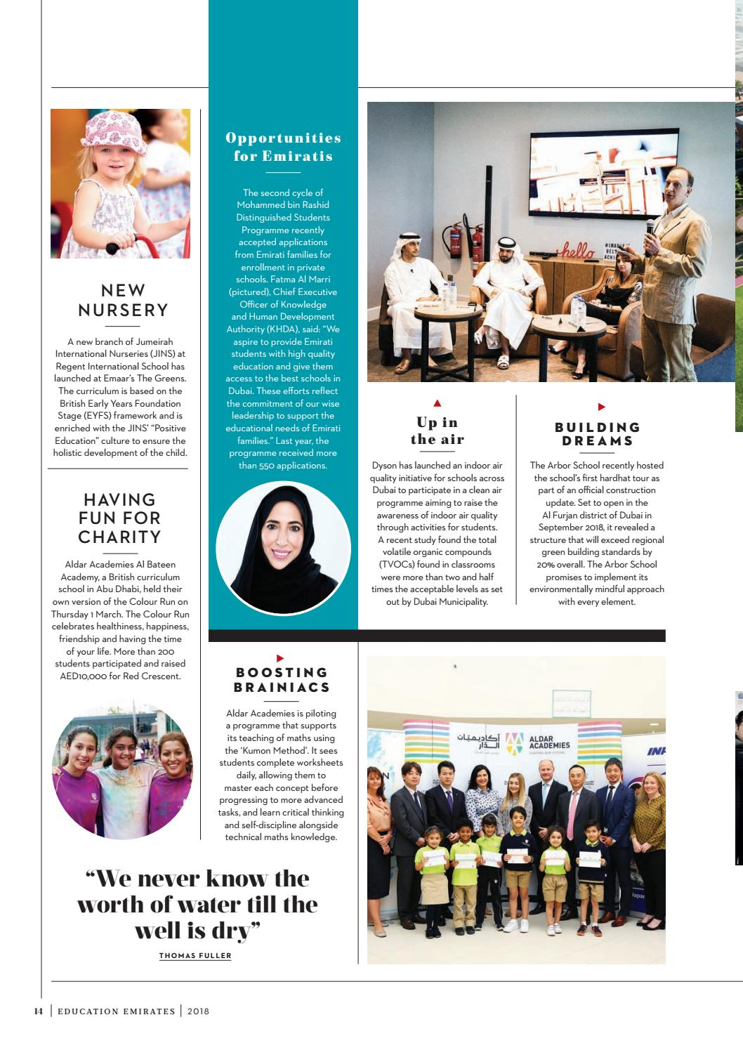 Absolutely Education Emirates Issue 6 2018 by Zest Media London - issuu