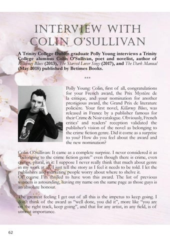 Page 62 of An interview with Colin O'Sullivan