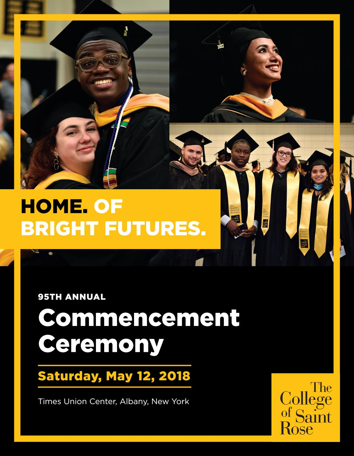 Saint Rose Commencement: May 12, 2018 by The College of Saint Rose