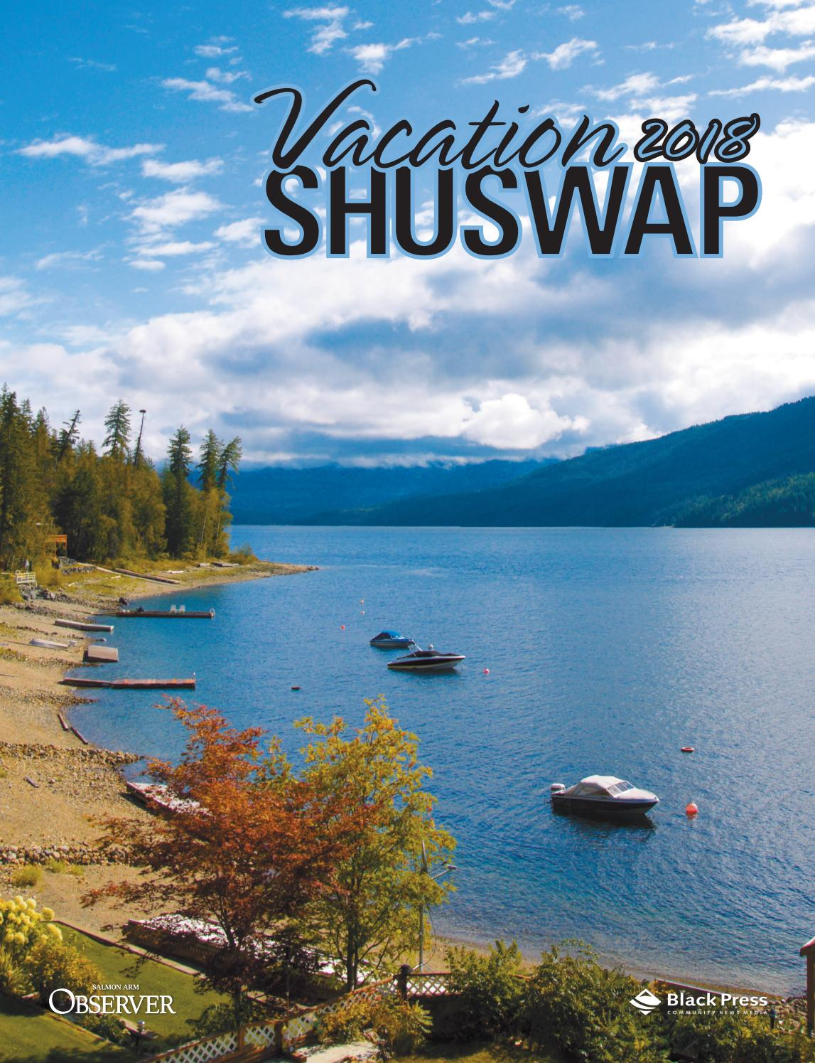 Tourism Guide Vacation Shuswap 2018 By Black Press Media