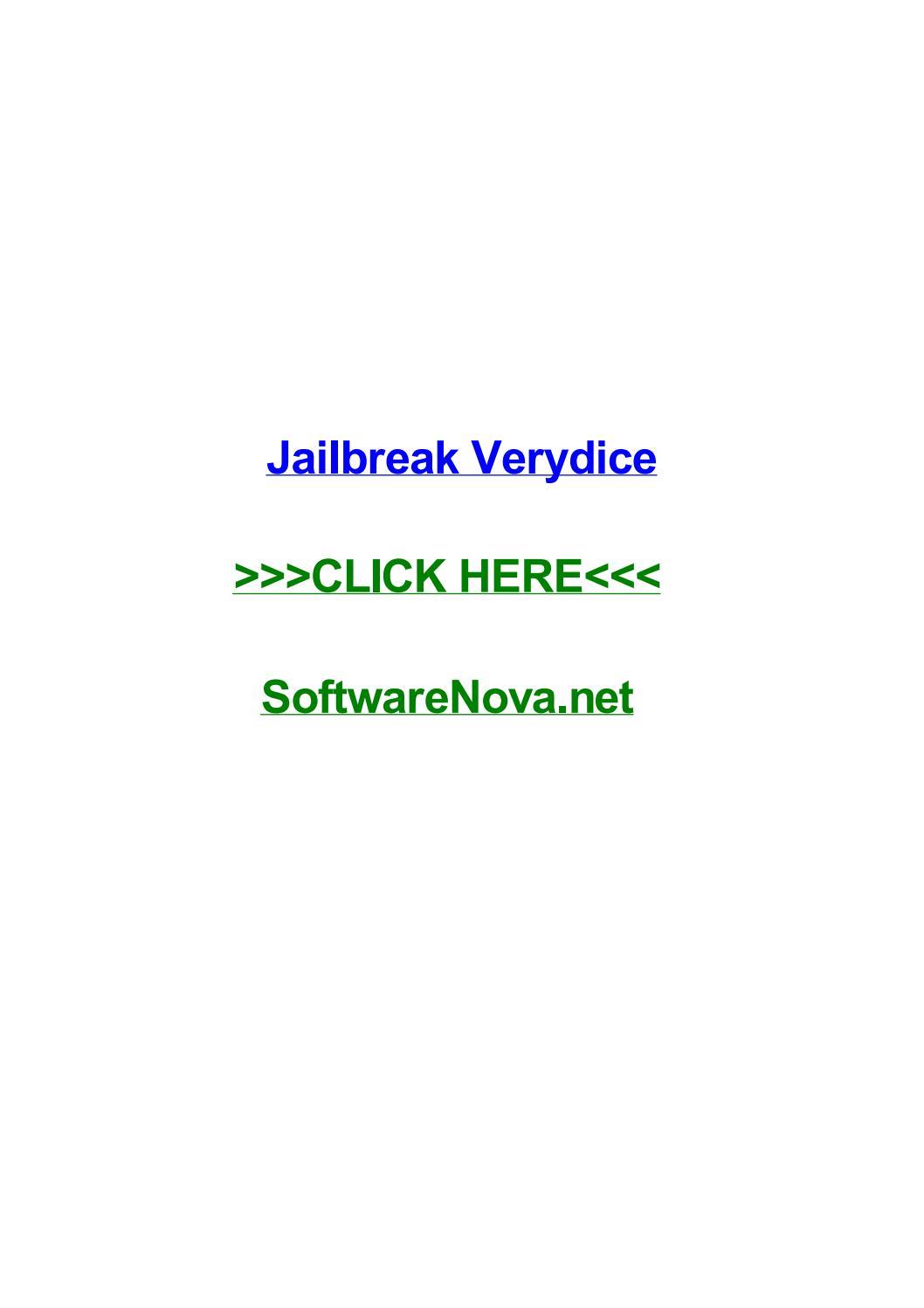 Jailbreak verydice by devinamrj - issuu