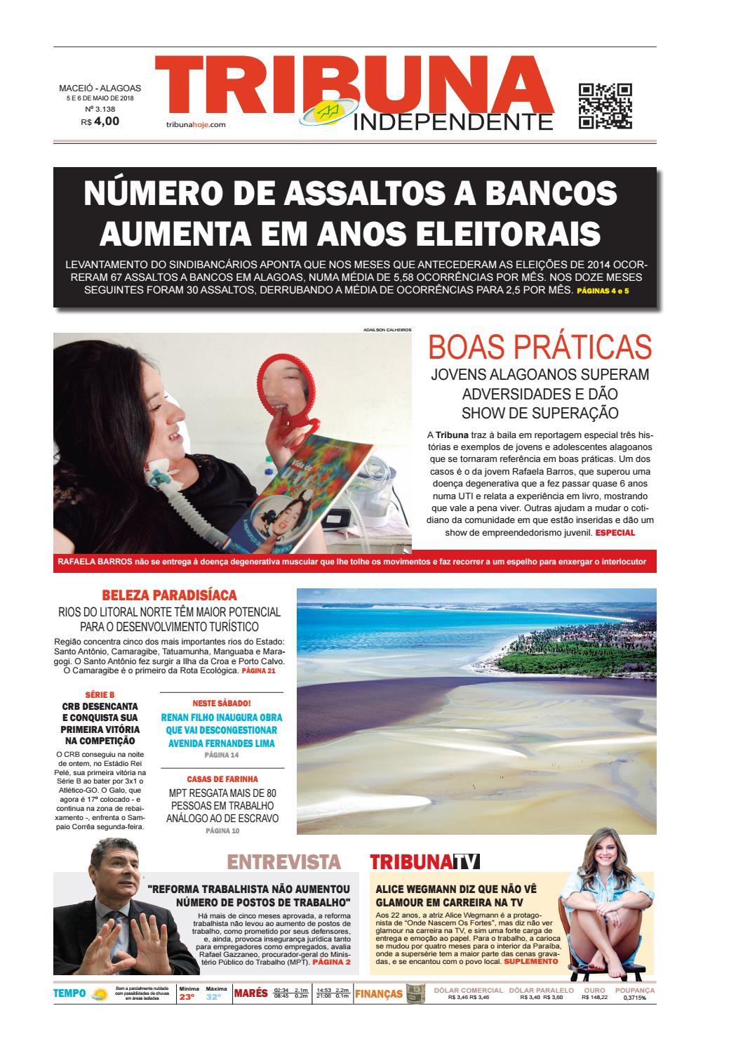 Edição número 3138 - 5 e 6 de maio de 2018 by Tribuna Hoje - issuu 2eb56baa80a93