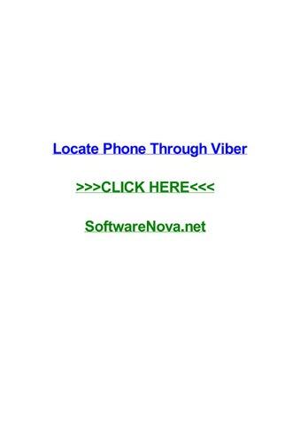 Locate phone through viber