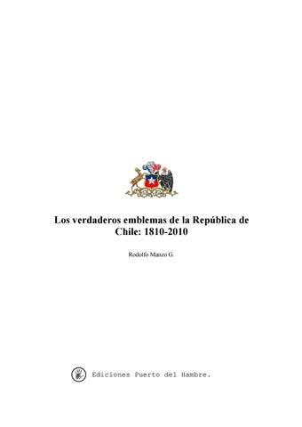 Los verdaderos emblemas de la república de chile by Alberto Manzo ... 8560d625492