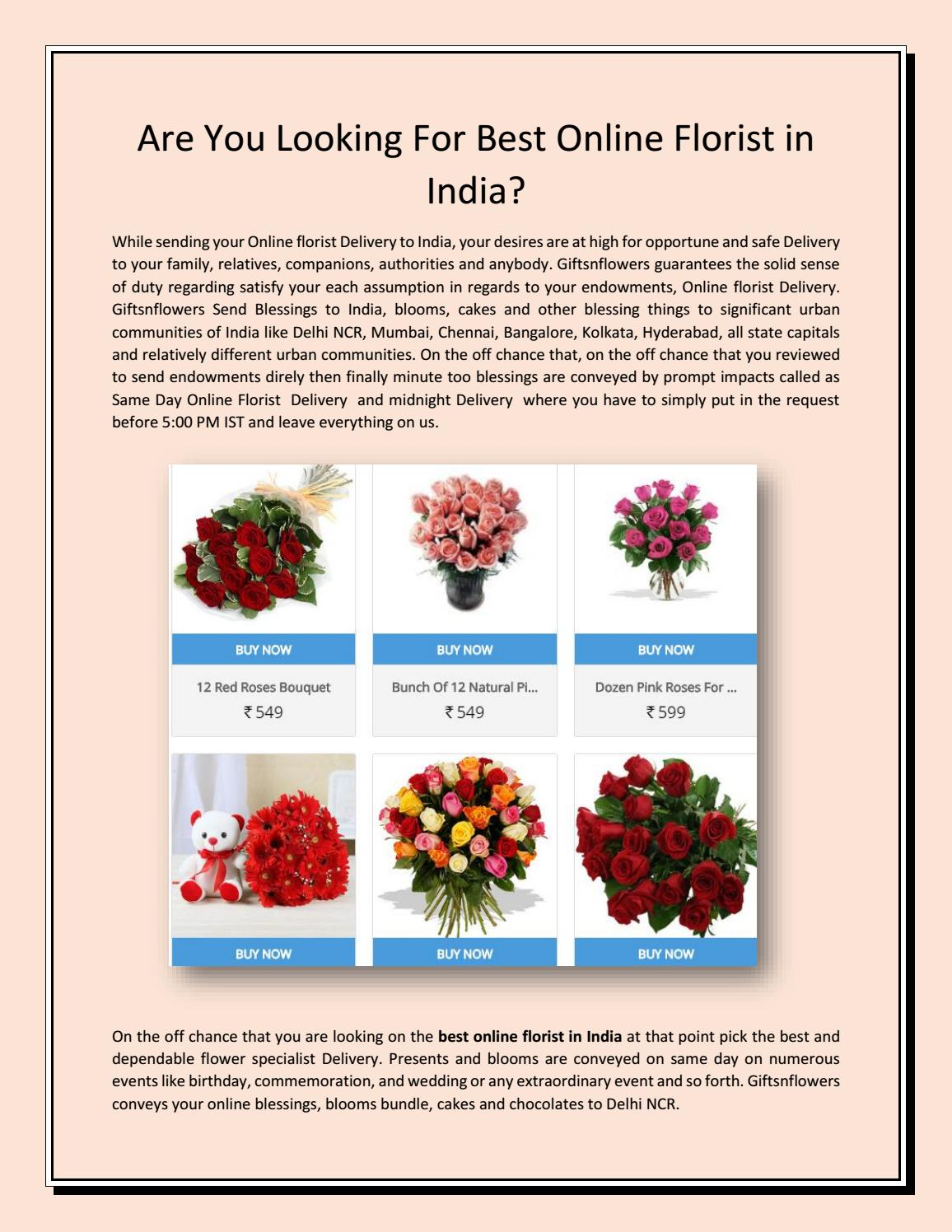 Are You Looking For Best Online Florist In India By Gifts N Flowers