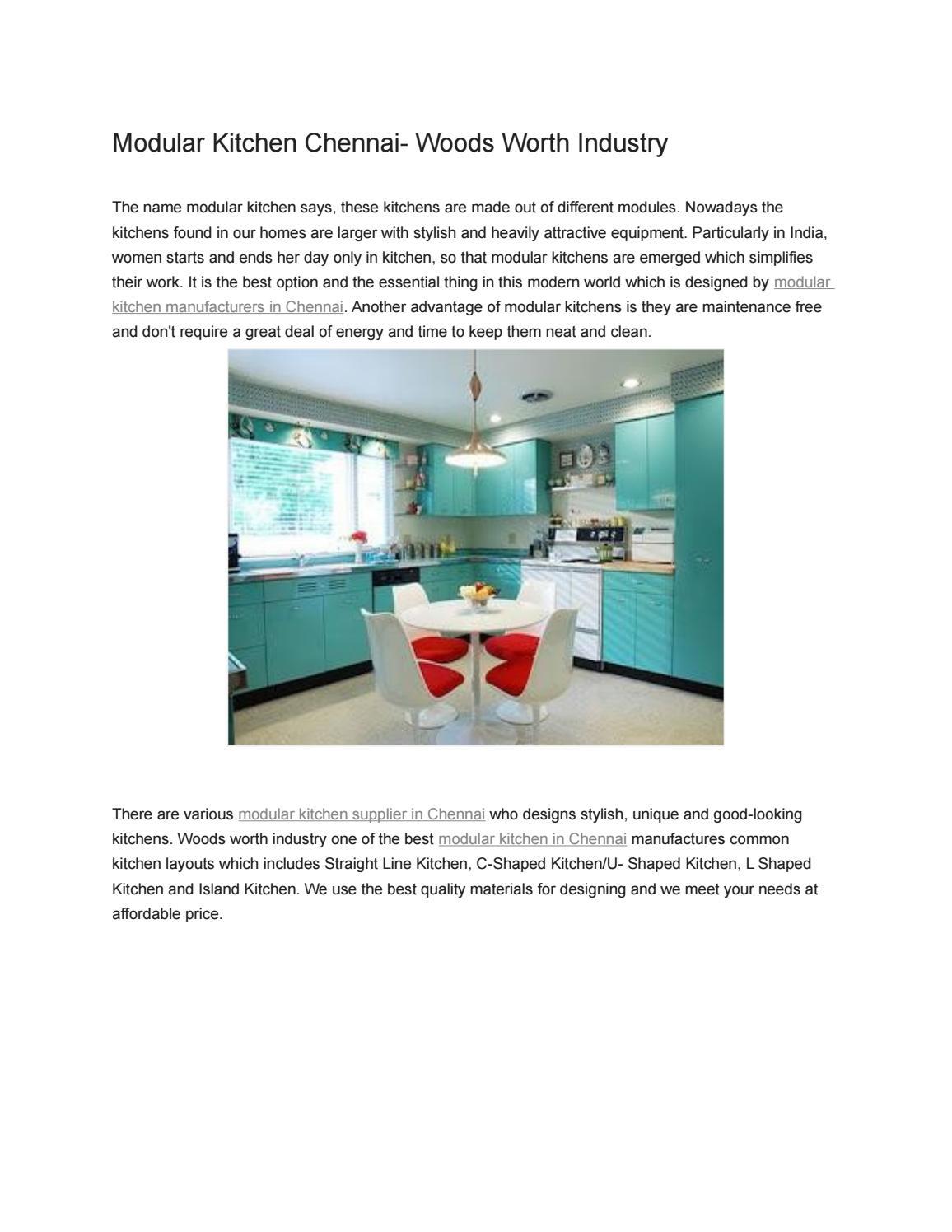Modular kitchen chennai woods worth industry by woodsworth89 - issuu