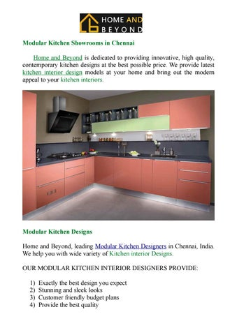Kitchen Interior Designs By Homeand Beyond Issuu