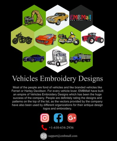 Vehicles Embroidery Designs By Rosslaura Issuu
