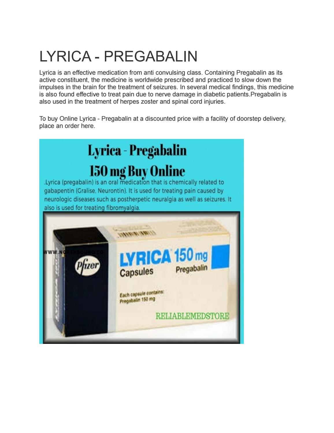 Best way to take lyrica