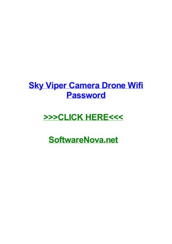 Sky viper camera drone wifi password