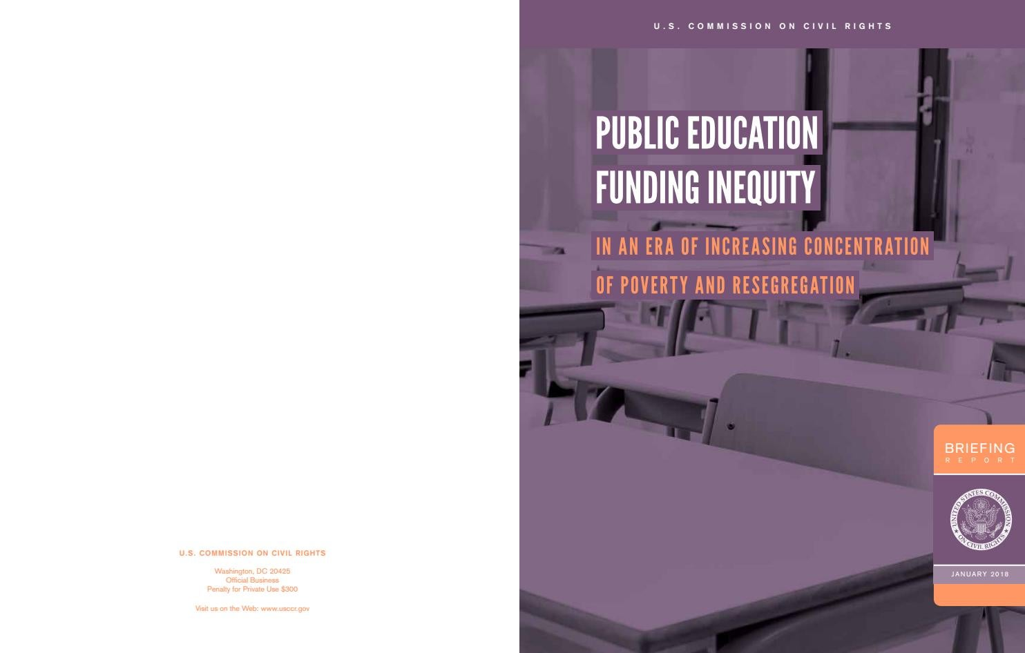 Inequity in Public Education Fundiing by Civil Rights Watch