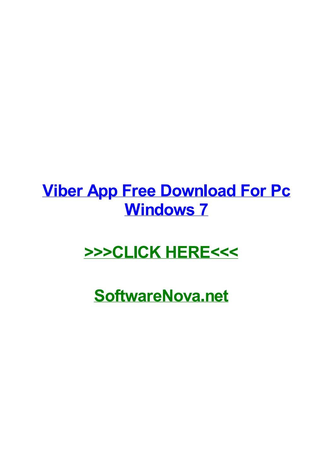 Viber app free download for pc windows 7 by carljmmin - issuu