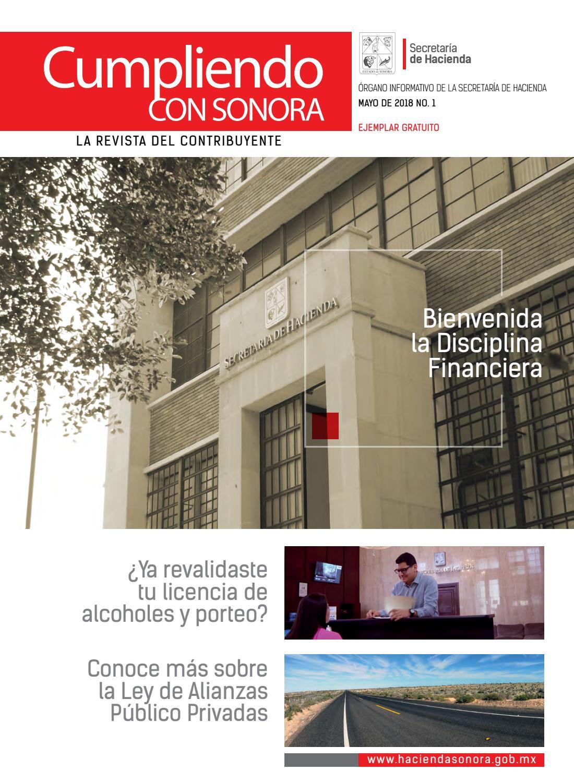 Revista Cumpliendo Con Sonora Mayo 2018 By Direccion