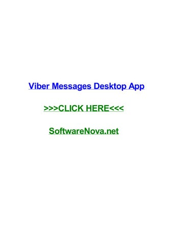 Viber messages desktop app by chrismnob - issuu