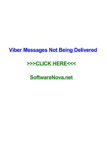 Viber messages not being delivered by dawnhecfy - issuu
