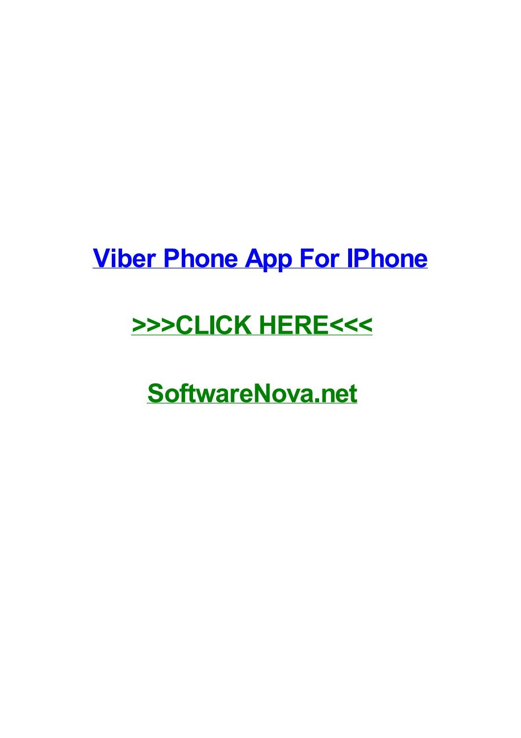 Viber phone app for iphone by jodiakyit - issuu