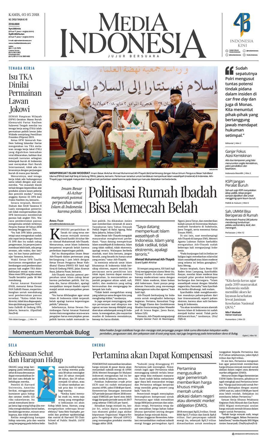 Mediaindonesia 03 05 2018 03052018133219 By Oppah Issuu