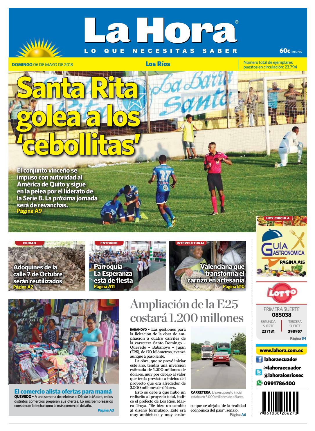 Los ríos 06 de mayo by Diario La Hora Ecuador - issuu
