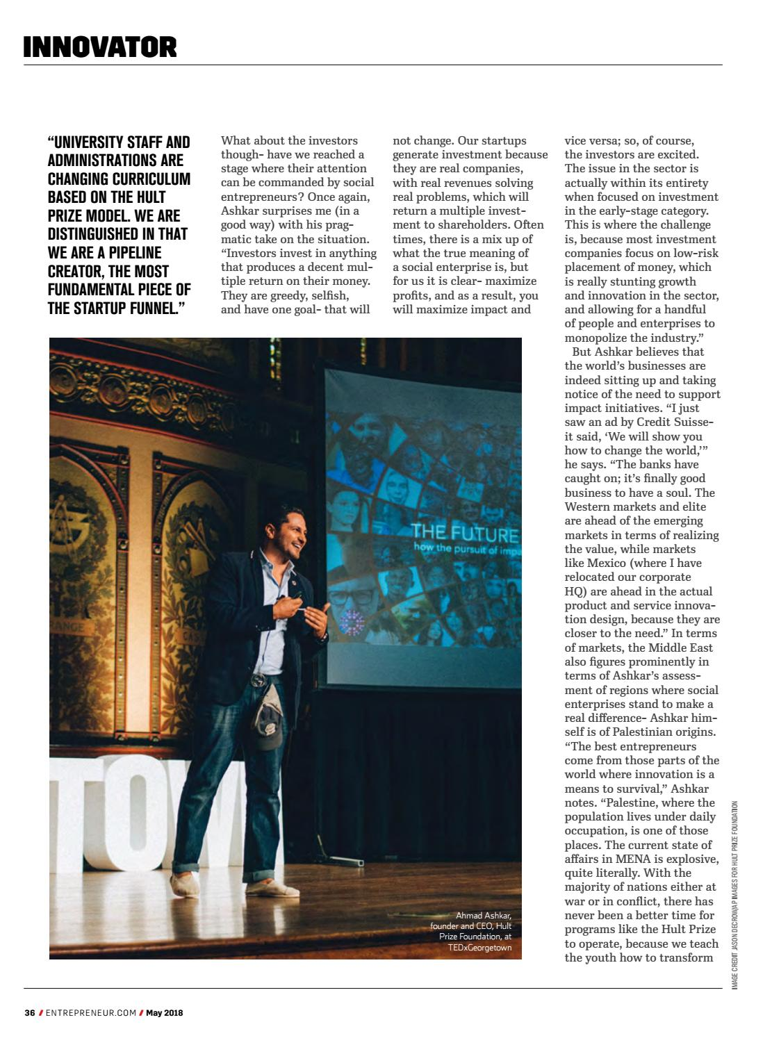 Entrepreneur Middle East May 2018 | Attention To Detail