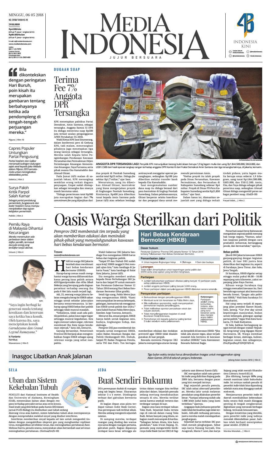Mediaindonesia 06 05 2018 06052018112820 By Oppah Issuu Produk Ukm Bumn Sastra Organdi Biru