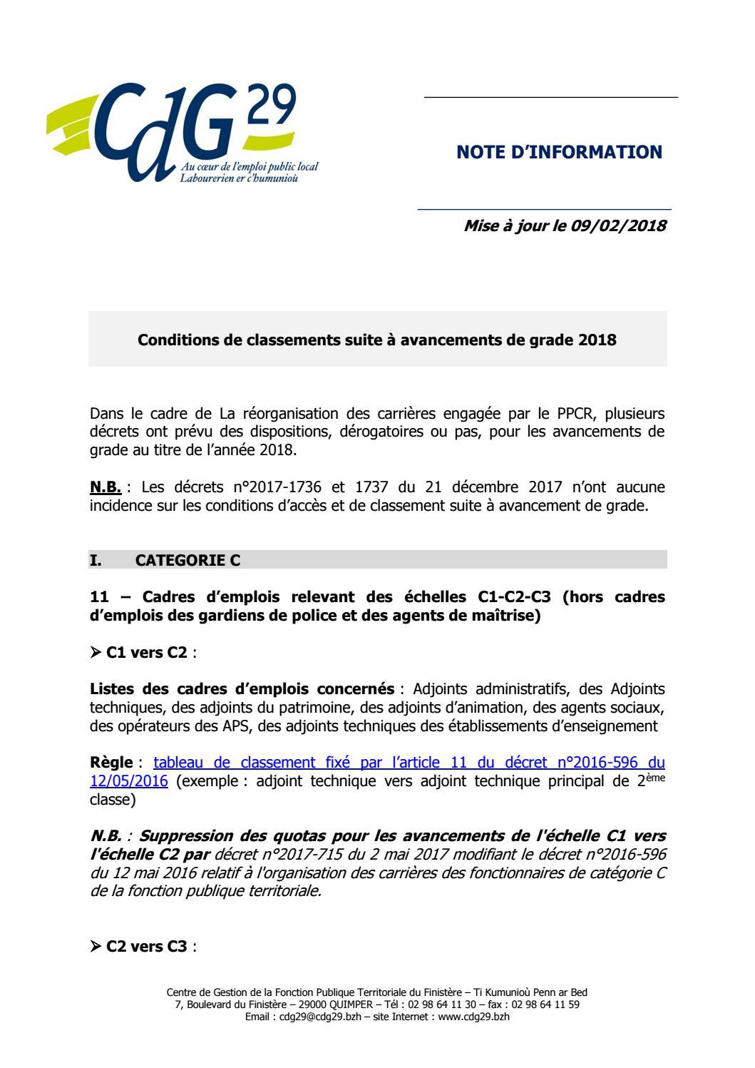 Fi Avancmt Grade Condition Classement 2018 By Gayraud Issuu