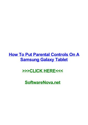 How to put parental controls on tablet