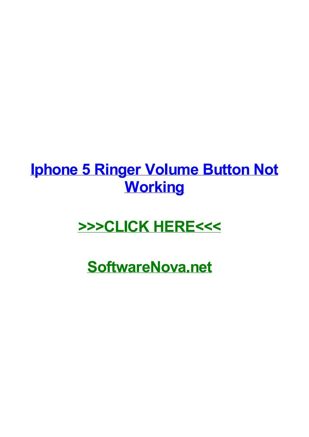 ringer volume iphone 5