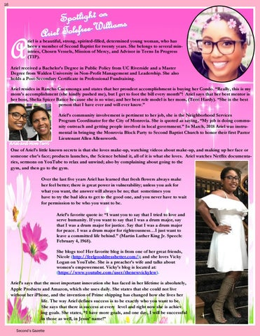 Page 16 of Spotlight on Ariel Tolfree-Williams