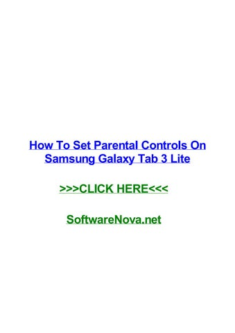 Samsung galaxy tab a parental controls