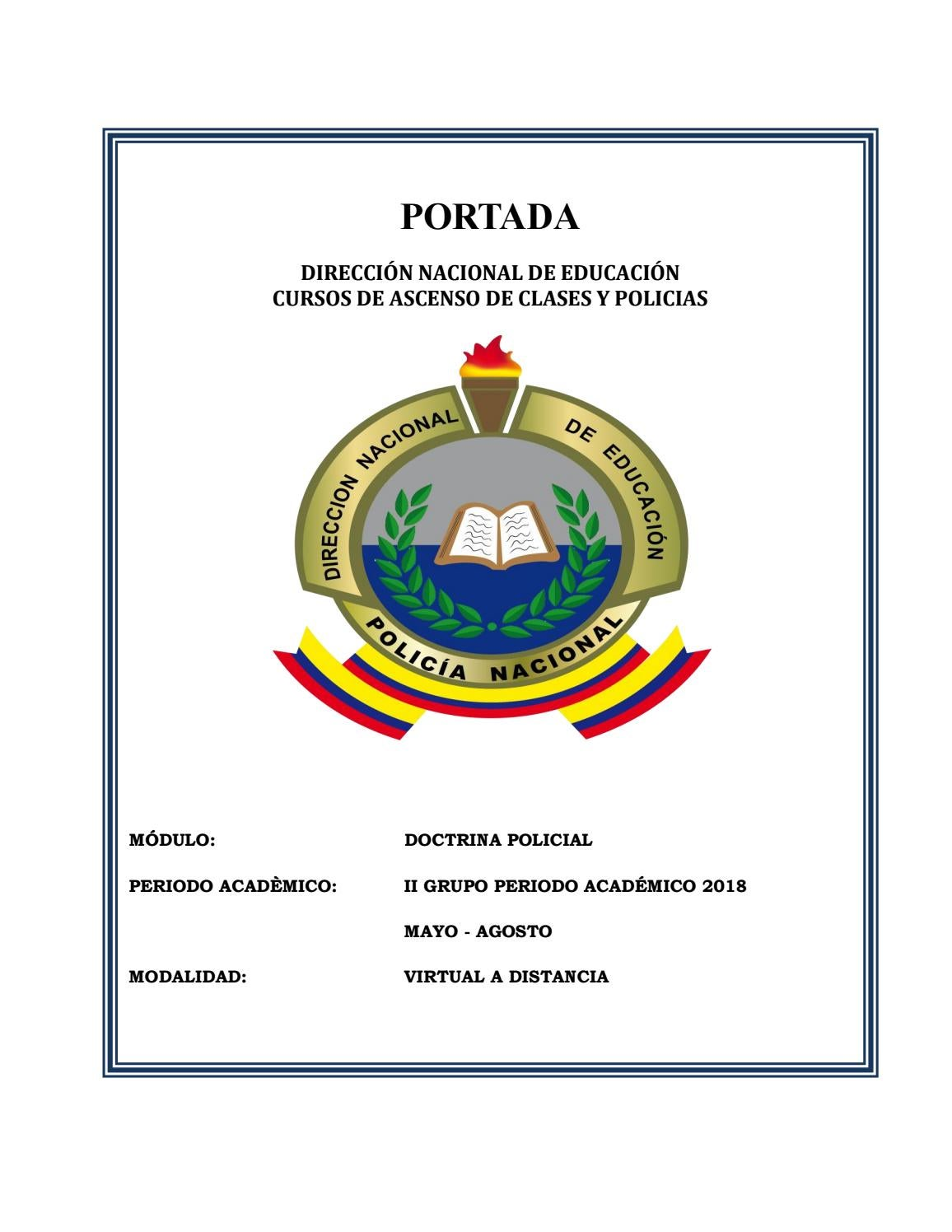 Modulo De Doctrina Policial By Sinthia Moreta Ramírez Issuu
