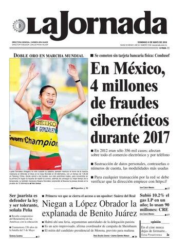 a423e80f23 DOMINGO 6 DE MAYO DE 2018 CIUDAD DE MÉXICO • AÑO 34 • NÚMERO 12130 •  www.jornada.unam.mx